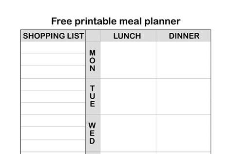 printable meal planner uk free printable meal planner with shopping list a mummy too