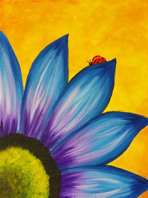easy acrylic painting ideas flowers the gallery for gt easy flower painting designs