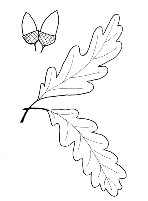 oak leaf template fall leaf pattern printables just paint it