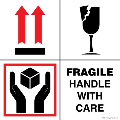 shipping label fragile handle with care fragile handle with care labels transportlabels