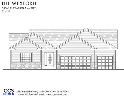homes wexford floor plan the wexford ranch floor plan ccs homes des moines