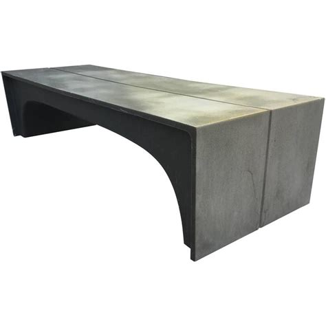architectural benches mid century vintage stone and fiberglass architectural bench at 1stdibs