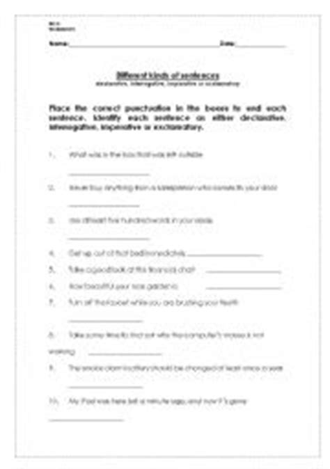 english worksheets interrogative declarative imperative