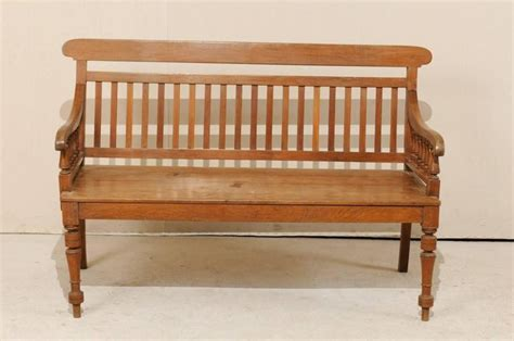 colonial style benches british colonial style teak wood bench with slats on the