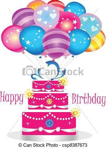 imagenes de cumpleaños y pastel vectores de pastel cumplea 241 os globos feliz feliz