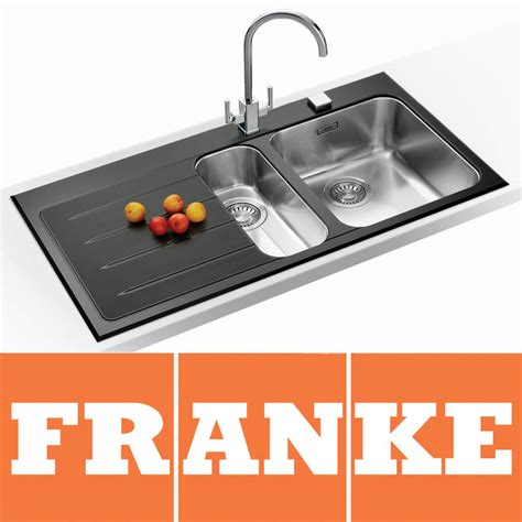 Black Glass Kitchen Sink Franke Epos 1 5 Black Glass Stainless Steel Kitchen Sink Franke Tap Lhd Eov651 Ebay