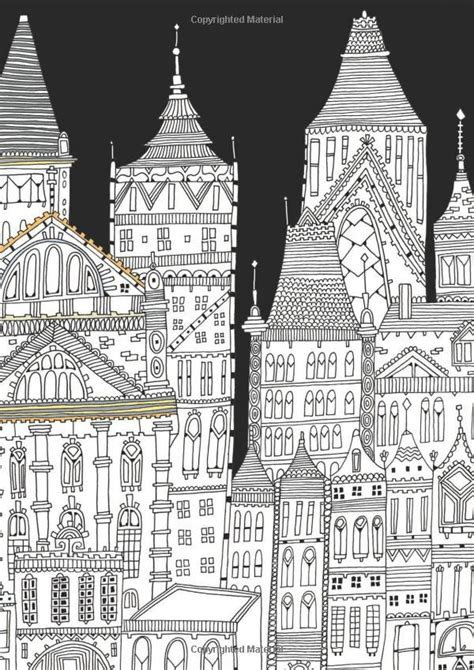 anti stress coloring book richard merritt 202 best images about colorir paisagens urbanas on