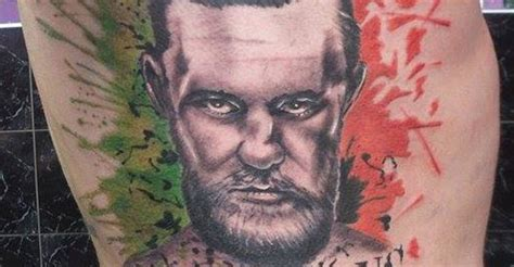 mcgregor face tattoo is that conor mcgregor super fan gets tatted up bjpenn com