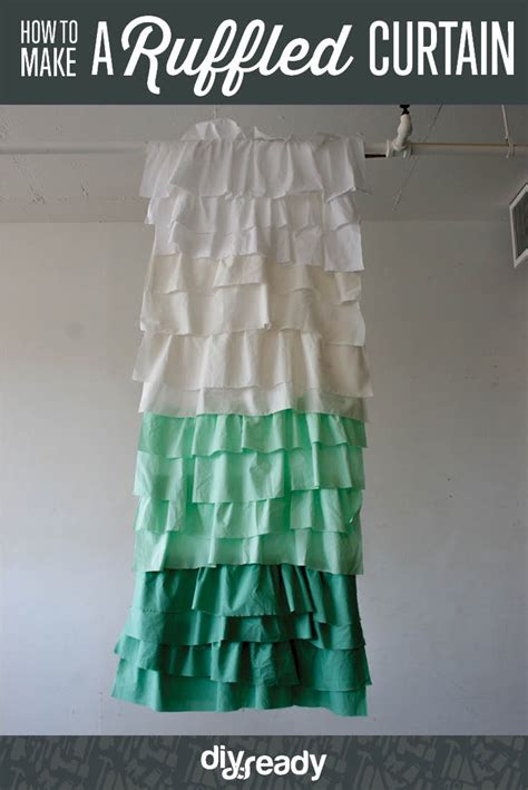 make a shower curtain diy ruffle shower curtain how to make curtains