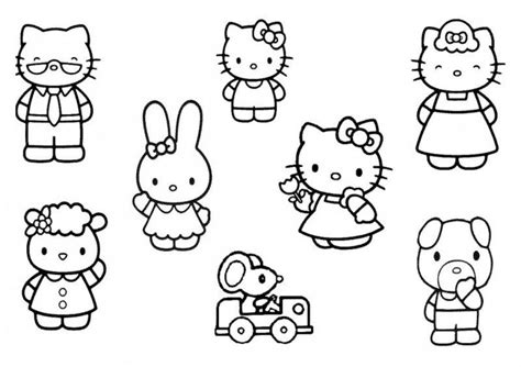 hello kitty and friends pictures coloring home