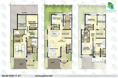 Four Bedroom House Floor Plans by Al Forsan Village Apartment Properties Villa Townhouse