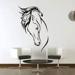 Wall Stickers Art horses head wall art stickers wall decal transfers