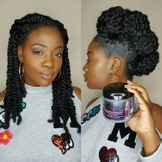 two strand twist parted at an angle coily textured u part wig wig and curly