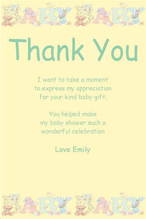 Baby Shower Gift Thank You Cards by Best 25 Baby Shower Thank You Ideas On Baby