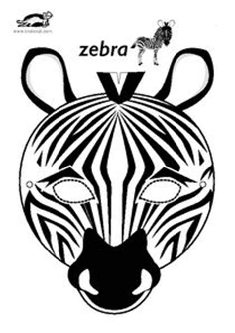 zebra mask coloring page zebra mask templates including a coloring page version of