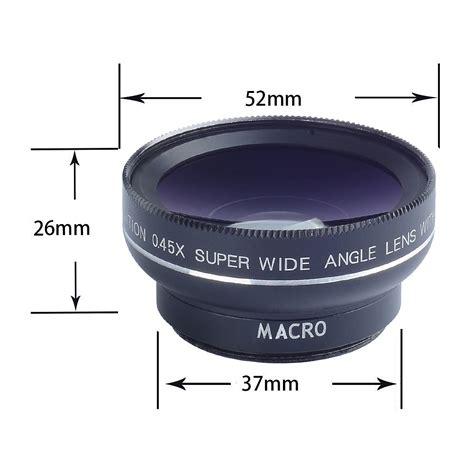 Universal Macro And Wide Angle Detachable Lens apexel apl 0 45wm wide angle macro lens for phones lens black
