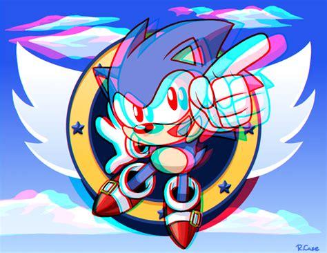 imagenes en 3d de sonic 3d sonic the hedgehog glasses ver by rongs1234 on deviantart