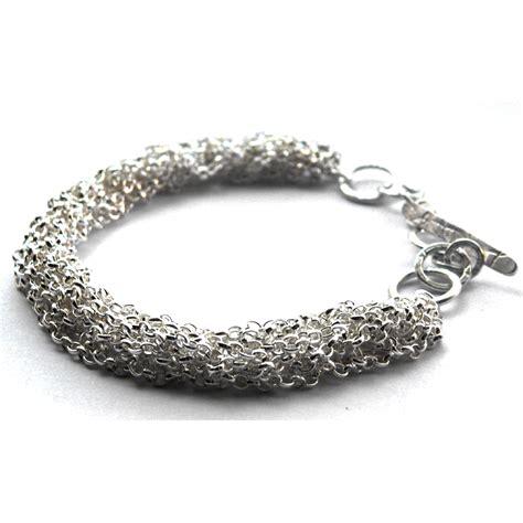 knitted belcher chain bracelet contemporary