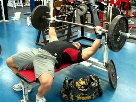 how to bench 225 greg doucette ifbb pro bench press 225 lbs 54 reps at 211