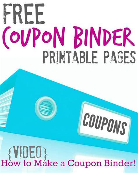 Printable Coupon Binder free printable coupon binder pages for savings