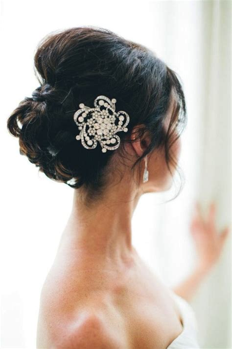 Vintage Bridal Hair Barrette by Vintage Inspired Bridal Hair Barrette And Wedding Updo