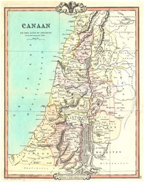 west canaan texas map canaan or the land of promise as divided among the tribes geographicus antique maps