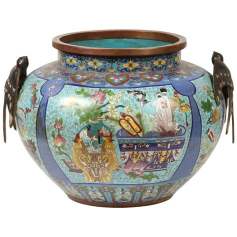 Cloisonne Planter by Cloisonne Planter At 1stdibs