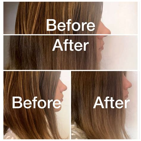 shimmer lights before and after purple shoo shimmer lights by clairol on