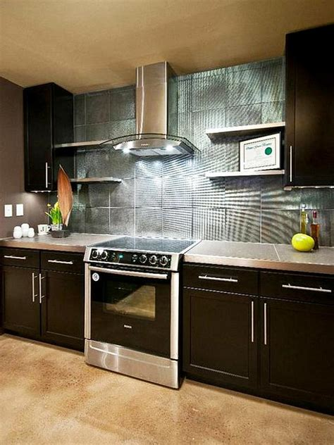 Glass For Cabinets In Kitchen by Kitchen Stainless Steel Backsplash Ideas Decor Trends