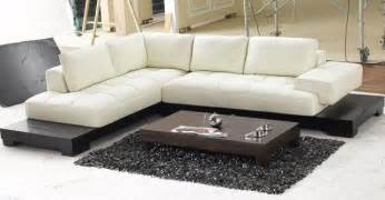 modern top grain leather section sofa modern sectional