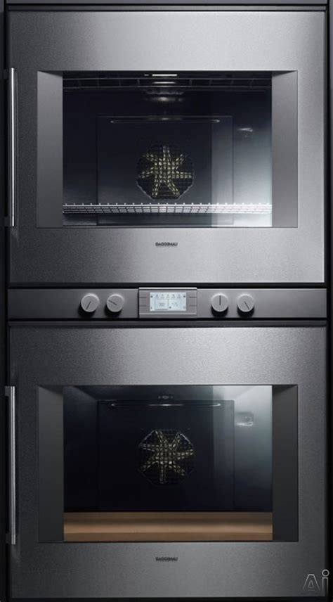 swing door oven gaggenau bx280611 30 quot double electric wall oven with 4 5
