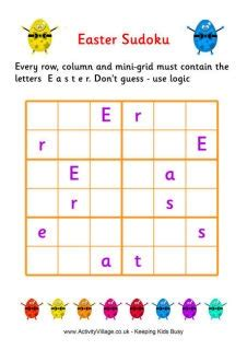 printable sudoku for ks2 easter puzzles