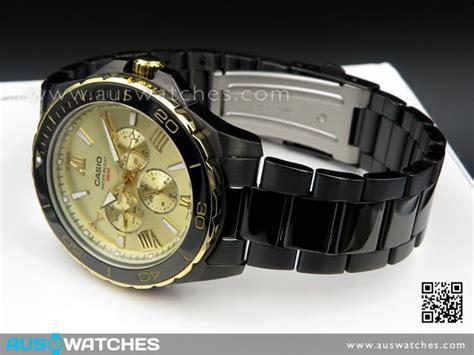 Casio Mtd 1075bk 9av buy casio black ion plated lock crown mtd