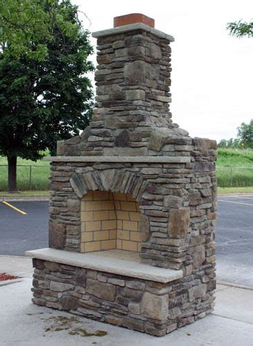 Outdoor Fieldstone Fireplace by Custom Built Outdoor Fireplace W Bucks County Southern