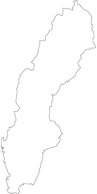 coloring page map of sweden country outline europe map sweden blank coloring