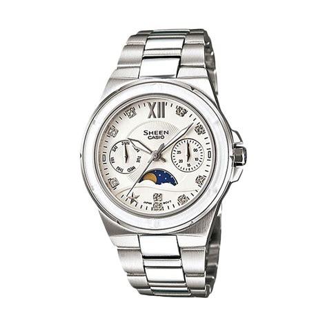 Casio Analog Jam Tangan Wanita Silver Stainles New jual casio sheen she 3500d 7a silver jam tangan wanita harga kualitas terjamin