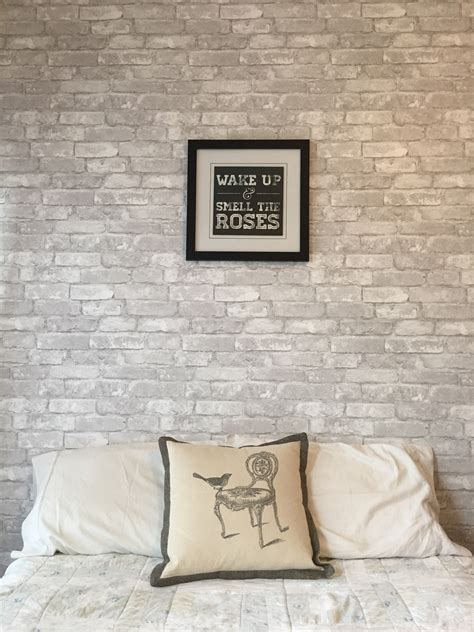 white brick removable wallpaper contemporary wallpaper loving this feature wall made with white brick removable