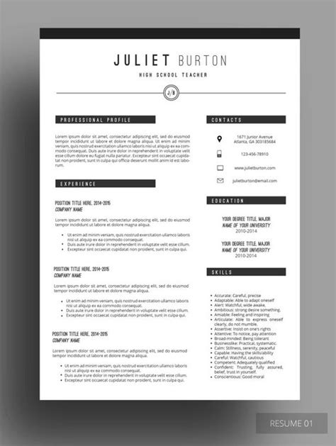 Free Designer Resume Templates by Professional Resume Template Cv Template Resume Cover Letter Resume For Resume Builder
