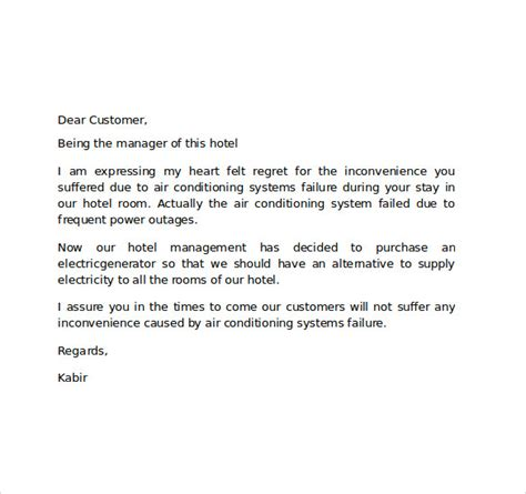 hotel apology letter template hotel apology letter 7 free documents in pdf