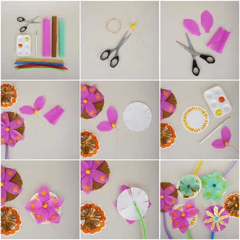 How To Make With Craft Paper - craft how to make a paper bouquet
