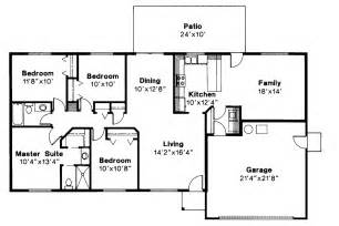 Ranch Floor Plans by Ranch House Plans Weston 30 085 Associated Designs