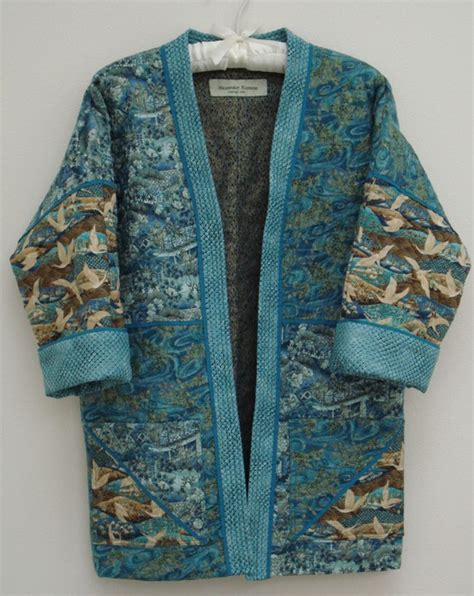 Japanese Quilted Jacket by Aqua Jewelquilted Kimono Jacket Size S By Alexanderkimono