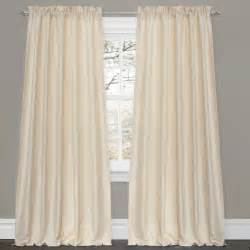 Lush Decor Curtains Lush Decor Lucia Ivory 84 Inch Curtain Panel Pair Contemporary Curtains By Overstock