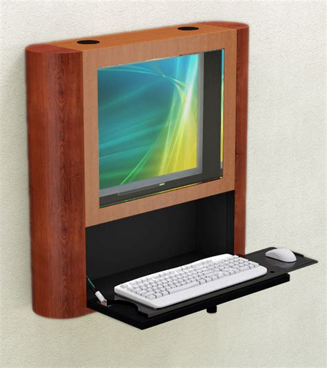 Secure Computer Desk Safe And Secure Wall Mounted Computer Workstation Afcindustries