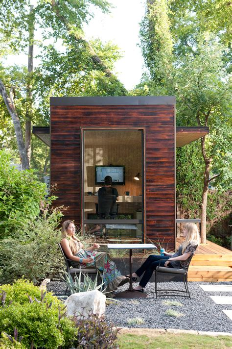 backyard office studio 92 square foot backyard office by sett studio2014 interior