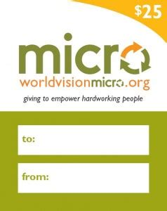 World Vision Gift Cards - giveaway world vision 25 micro loan gift card thrifty nw mom