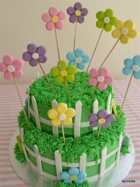 Flower Garden Cake Cakes Pinterest Flower Garden Cake Sprinkles Creations Pinterest