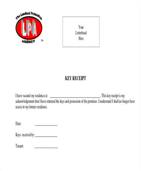 key deposit receipt template 39 sle receipt forms sle templates