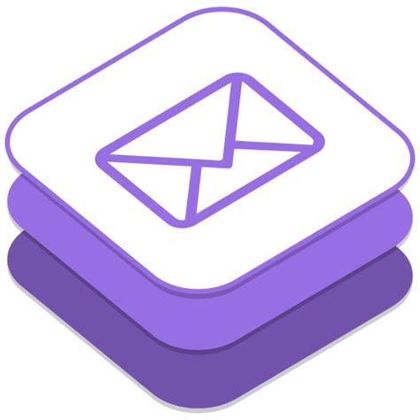 email layout icon email icon ios8 style social iconset designbolts
