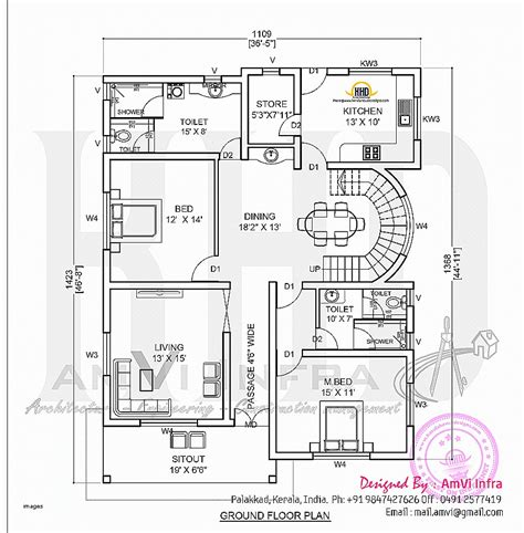kerala home plan elevation and floor plan 2254 sq ft house plan awesome www kerala model house plans kerala